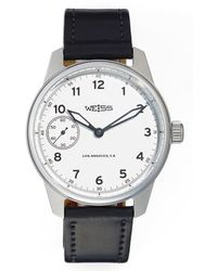 Weiss - 'standard Issue' Leather Strap Watch - Lyst