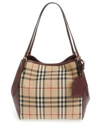 Burberry - 'small Canterbury' Horseferry Check Shoulder Tote - Lyst