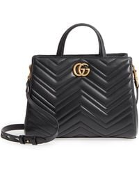 Gucci - Gg Small Marmont 2.0 Matelasse Leather Top Handle Satchel - Lyst