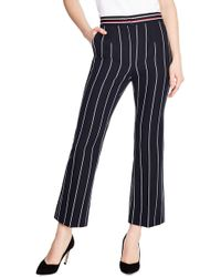 Sandro - Blanche Striped Cropped Pants - Lyst
