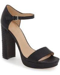 Pour La Victoire | Yvette Ankle Strap Sandals | Lyst