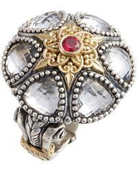 Konstantino Pythia Crystal Statement Ring - Metallic