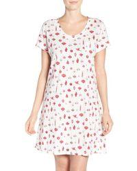 Carole Hochman - Print Cotton Sleep Shirt - Lyst