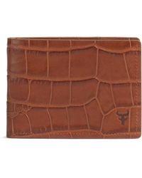 Trask - 'jackson' Super Slim Leather Wallet - - Lyst