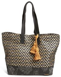 Volcom - 'hideaway' Woven Tote - Lyst