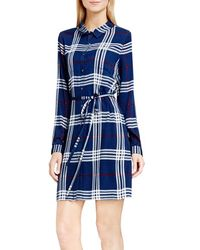 Two By Vince Camuto - Plaid Shirtdress - Lyst