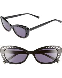c1757c0853 Kendall + Kylie - Extreme 55mm Cat Eye Sunglasses - Lyst