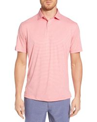 6b5ed1a8 Peter Millar Featherweight Polo Shirt in Pink for Men - Lyst