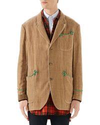 31e7a74d4 Gucci Dark Grey Wool Signoria Coat in Gray for Men - Lyst