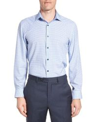 W.r.k. - Trim Fit Check Stretch Dress Shirt - Lyst
