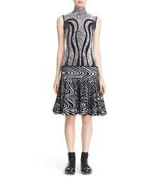 Phelan - Pleated Knit Drop Waist Dress - Lyst