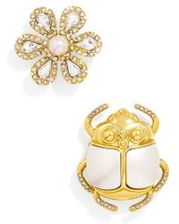BaubleBar - 'beetle' Brooches (set Of 2) - Lyst