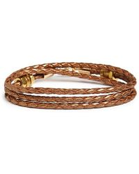 Half United - 'honeycomb' Leather Wrap Bracelet - Lyst