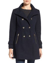 Jessica Simpson - Fit & Flare Officers Coat - Lyst
