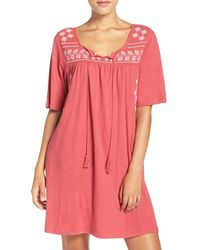 Lucky Brand - Embroidered Cotton Kaftan - Lyst