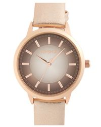 TOPSHOP | Ombre Border Dial Leather Strap Watch | Lyst