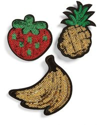 TOPSHOP - Sequin Fruit Brooches (set Of 3) - Lyst