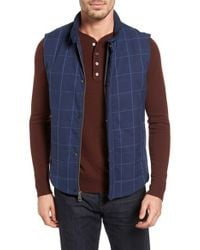 Lanai Collection - 'navigator' Windowpane Quilted Down Vest - Lyst
