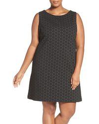 Taylor Dresses - Circle Jacquard Sleeveless A-line Dress - Lyst