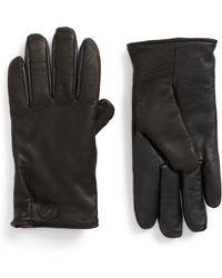 UGG - Ugg Leather Smart Gloves - Lyst