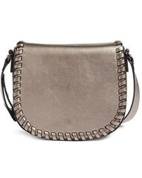 Phase 3 - Whipstitch Faux Leather Saddle Bag - Lyst