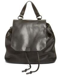 Phase 3 - Perforated Faux Leather Backpack - Lyst