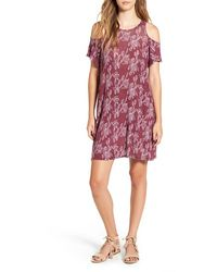 Michelle By Comune - 'walthamstow' Floral Print Shift Dress - Lyst
