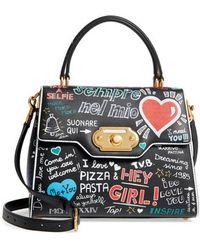 Dolce & Gabbana - Welcome Graffiti Leather Satchel - - Lyst