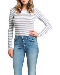 Lamade - Stripe Raglan Sleeve Bodysuit - Lyst
