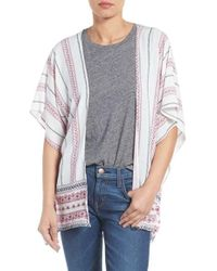 Roffe Accessories - Stripe Kimono - Lyst