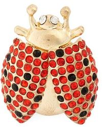 Cara - Crystal Ladybug Pin - Lyst