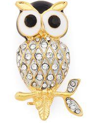 Cara - Owl Brooch - Lyst