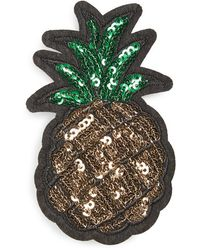 Cara - Sequin Pineapple Patch Brooch - Lyst