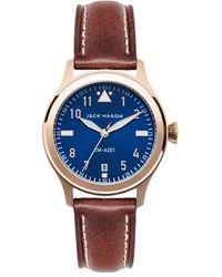 Jack Mason Brand - Aviation Leather Strap Watch - Lyst