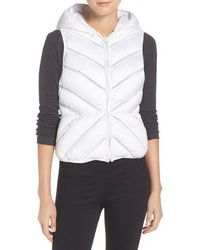 Blanc and Noir - Hooded Puffer Vest - Lyst