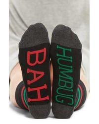 Sockart - 'bah Humbug' Crew Socks - Lyst