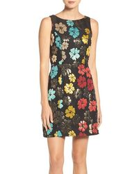 Maia - Floral Jacquard Fit & Flare Dress - Lyst