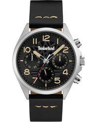 Timberland - 'bartlett Ii' Multifunction Leather Strap Watch - Lyst