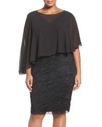 Marina | Capelet Lace Sheath Dress | Lyst