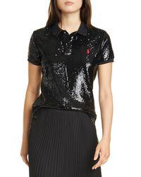 Polo Ralph Lauren Sequined Polo Shirt - Black
