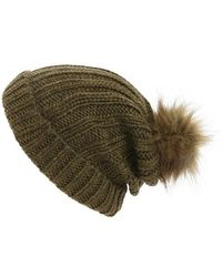 Maison Scotch | Faux Fur Pom Beanie | Lyst