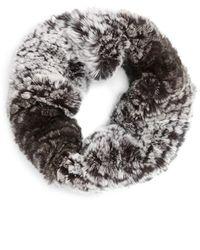 Toria Rose - Genuine Rabbit Fur Infinity Scarf - Lyst