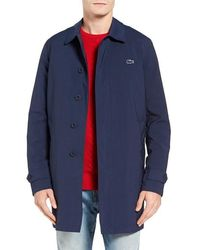 Lacoste - Lined Shell Coat - Lyst