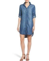 Side Stitch - Button Vent Chambray Shirtdress - Lyst