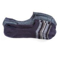 Calibrate - 2-pack Cotton Blend Liner Socks, Blue - Lyst