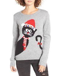 Love By Design - Peekaboo Cat Christmas Sweater - Lyst