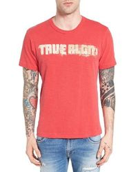 True Religion - Football Stitch Graphic T-shirt - Lyst