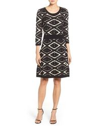Taylor Dresses - Sweater Fit & Flare Dress - Lyst