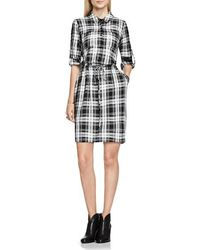 Two By Vince Camuto - Plaid Utility Shirtdress - Lyst