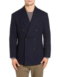 Singer + Sargent - Double Breasted Wool Blazer - Lyst